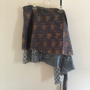 Dresses & Skirts - Wrap around recycled sari skirt